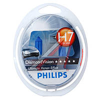Лампа накаливания H7 12V 55W PX26d Diamond Vision 5000K (пр-во Philips) (арт. 12972DVS2)