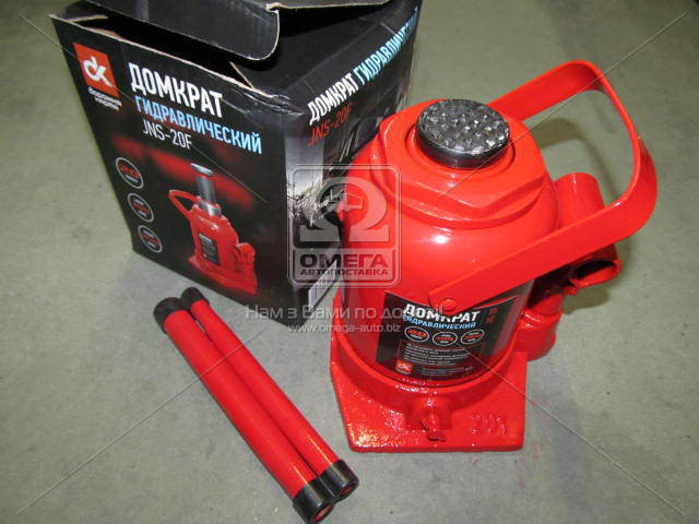 Домкрат бутылочный, 20т низкий, красный H=190/350  (арт. JNS-20F)