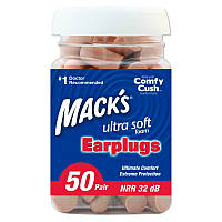 Беруши Mack's Ultra Soft, NNR 32 dB, 50 пар