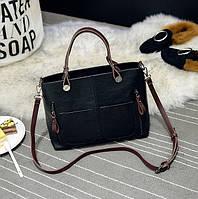 Женская сумка Mei&Ge с карманами черная