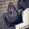 Велика жіноча сумка Mei&Ge шопер чорна