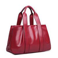 Женская вместительная сумка Mei&Ge с ручками красная, фото 1