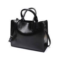 Большая женская сумка Mei&Ge Classic черная, фото 1