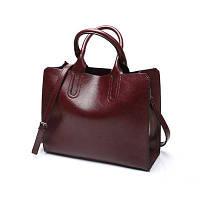 Большая женская сумка Mei&Ge Classic бордовая