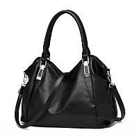 Большая женская сумка Micky Ken черная, фото 1