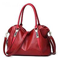 Велика жіноча сумка Micky Ken червона, фото 1