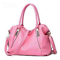 Большая женская сумка Micky Ken розовая