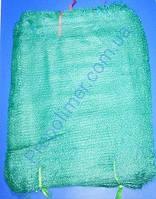 Сетка овощная 40 х 60 см с завязкой, сетка мешок зеленая, для упаковки молодой кукурузы, сетка овощная 20 кг, фото 1