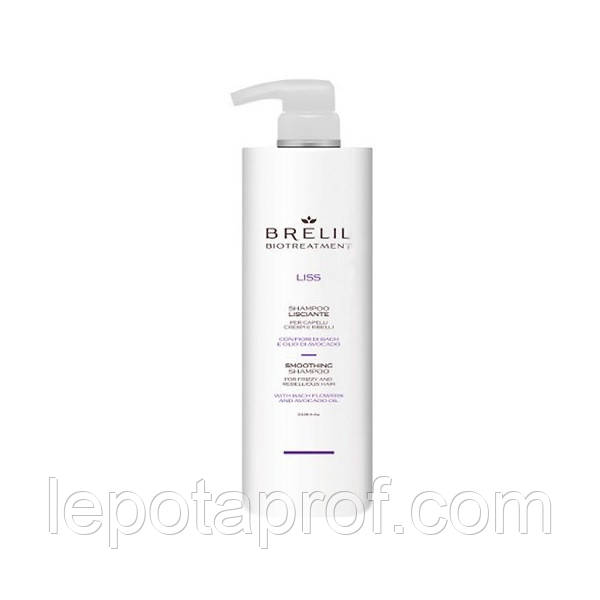 Шампунь для разглаживания волос Brelil Biotreatment Liss, 1000 мл