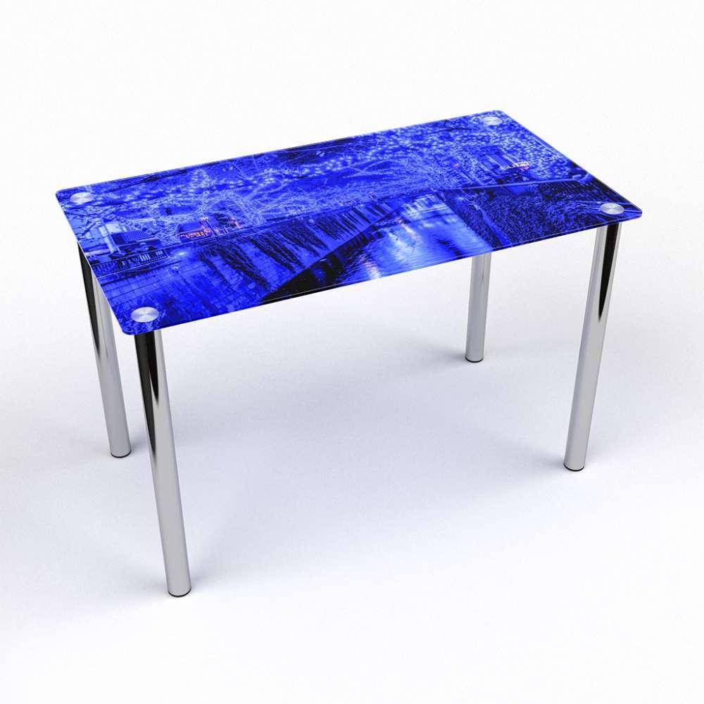 Стол кухонный стеклянный Прямоугольный Inverno 91х61 Эко* (БЦ-стол ТМ)
