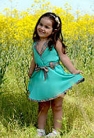 Детское платье Барбери мята
