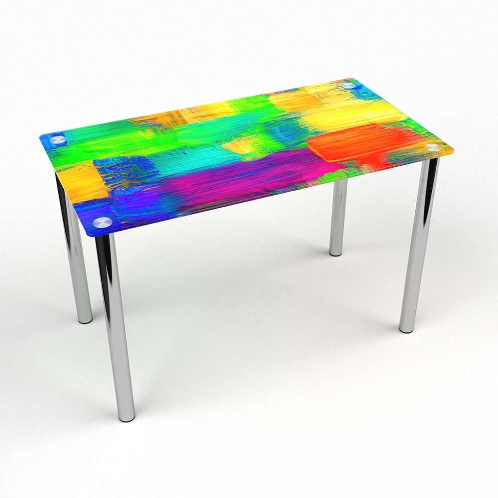 Стол кухонный стеклянный Прямоугольный Luminoso 91х61 Эко* (БЦ-стол ТМ)
