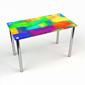 Стол кухонный стеклянный Прямоугольный Luminoso 91х61 Эко* (БЦ-стол ТМ), фото 2