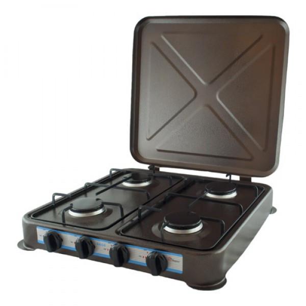 Газовая плита 4 конфорки DOMOTEC MS-6604 Brown таганок удобна и проста в обслуживании