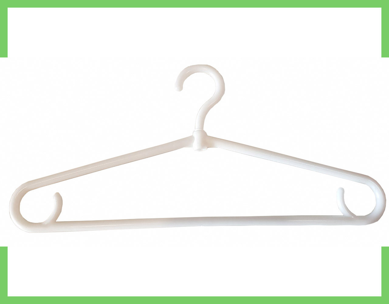 Плечики вешалки пластиковые для одежды (толстая) (белая) Украина 40 см