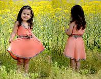 Детское платье Барбери персиковое