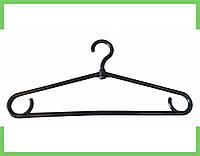 Плечики вешалки пластмассовые для одежды (толстая) (черная) Украина 40 см, фото 1