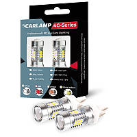 Led автолампы Carlamp для габаритных огней 4G-Series красного свечения 1260 Лм 6000 К (W21W-T20)
