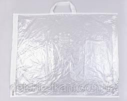 Упаковка для пледов, с ручкой, белая окантовка 42*50*6 см