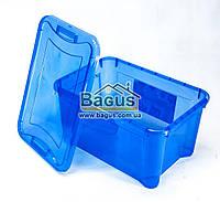 Емкость для хранения 14л универсальная (для вещей, пищи) пластик с крышкой (цвет - синий) Ал-Пластик Украина
