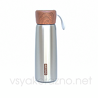 Металлический термос бутылочка 500 мл (металлик)
