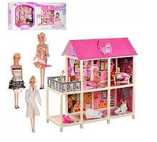 Кукольный домик для Барби (двухэтажный, 3 куклы) 66884