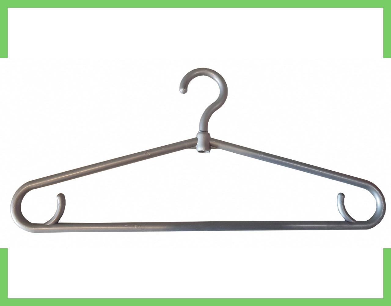 Плечики вешалки пластмассовые для одежды (толстая) (серая) Украина 40 см