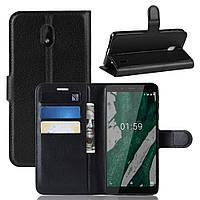 Чехол Luxury для Nokia 1 Plus (TA-1130) книжка черный