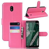 Чехол Luxury для Nokia 1 Plus (TA-1130) книжка розовый