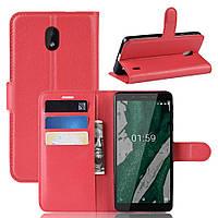 Чехол Luxury для Nokia 1 Plus (TA-1130) книжка красный