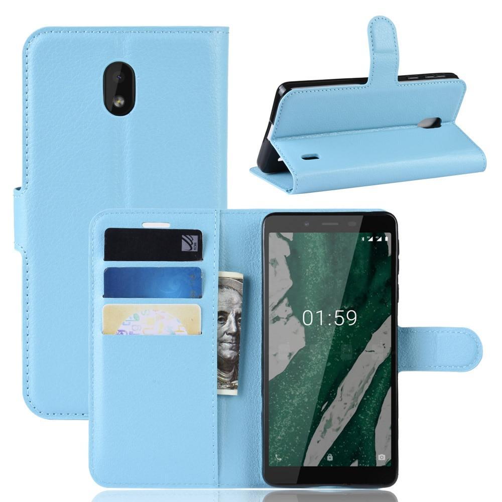 Чехол Luxury для Nokia 1 Plus (TA-1130) книжка голубой