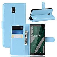 Чехол Luxury для Nokia 1 Plus (TA-1130) книжка голубой, фото 1