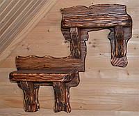 Полка навесная, деревянная