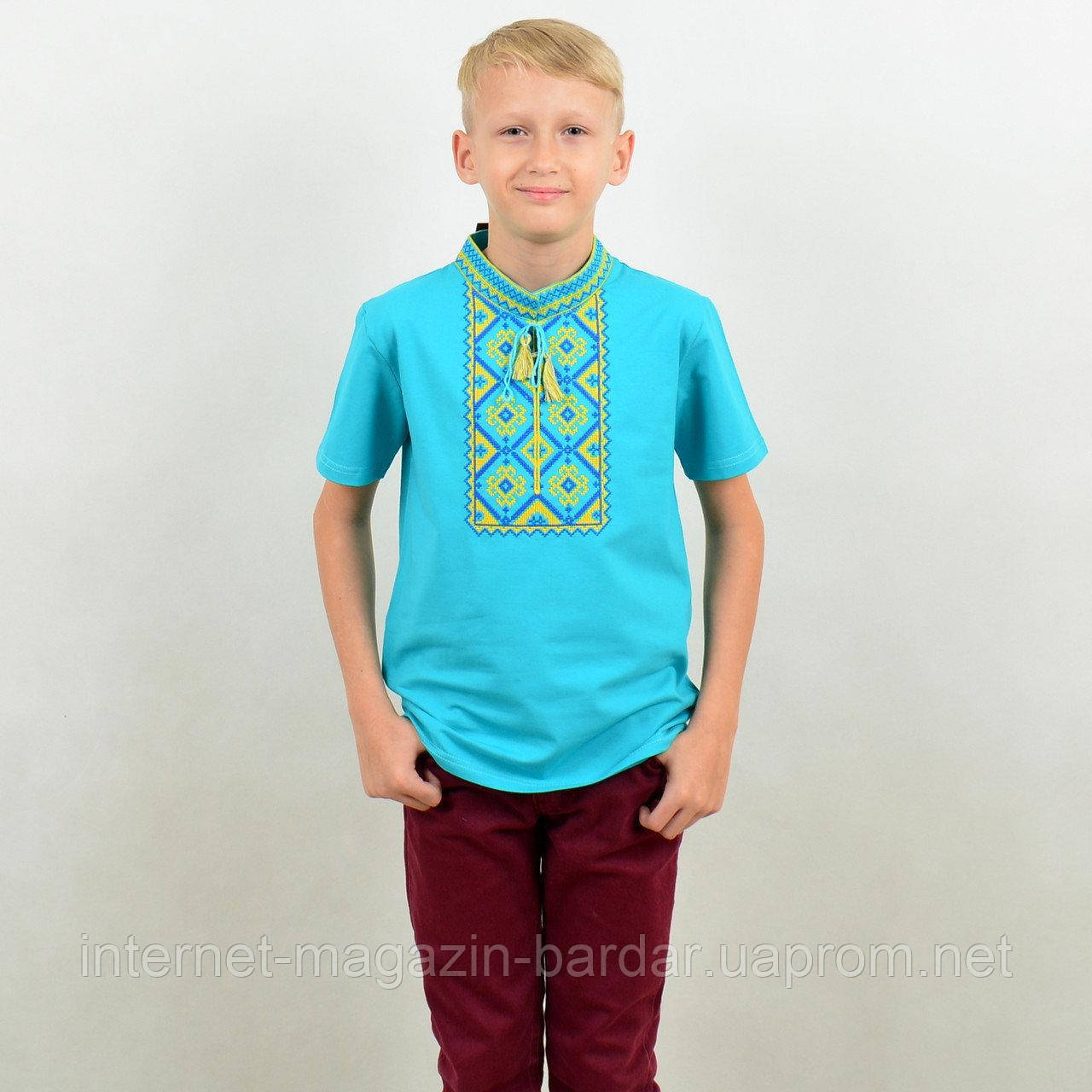 "Футболка вышиванка для мальчика ""Француз"""