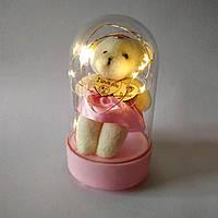 Мишка в колбе с подсветкой под колбой
