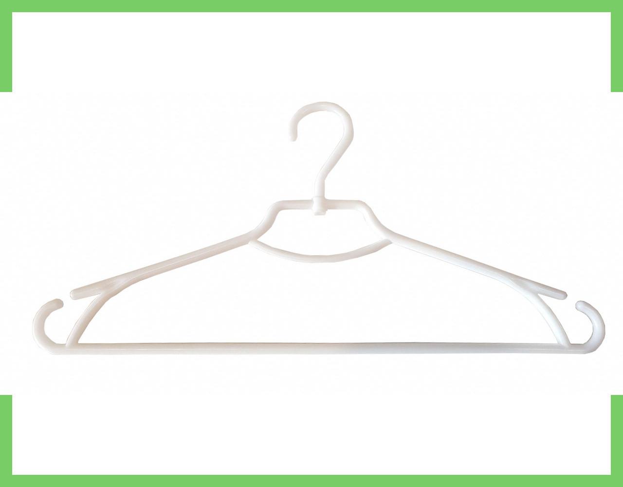 """Вешалка плечики пластмассовые для одежды """"Лиза"""" Украина 43 см (Черный,Белый)"""