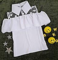 Блуза на девочку, р. 134-152, белый, фото 1