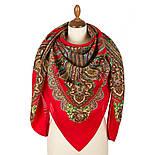 Царевна-лягушка 1447-5, павлопосадский платок шерстяной с просновками с подрубкой, фото 3