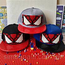 Детская кепка с прямым козырьком для Lego Spider man(Человек паук)