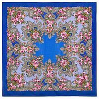 Серебро 1243-13, павлопосадский платок шерстяной с просновками с подрубкой, фото 1