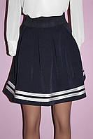Юбка-тюльпан синего цвет, фото 1