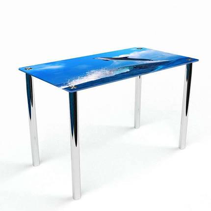 Стіл кухонний скляний Прямокутний Dolphin 91х61 *Еко (БЦ-стіл ТМ), фото 2