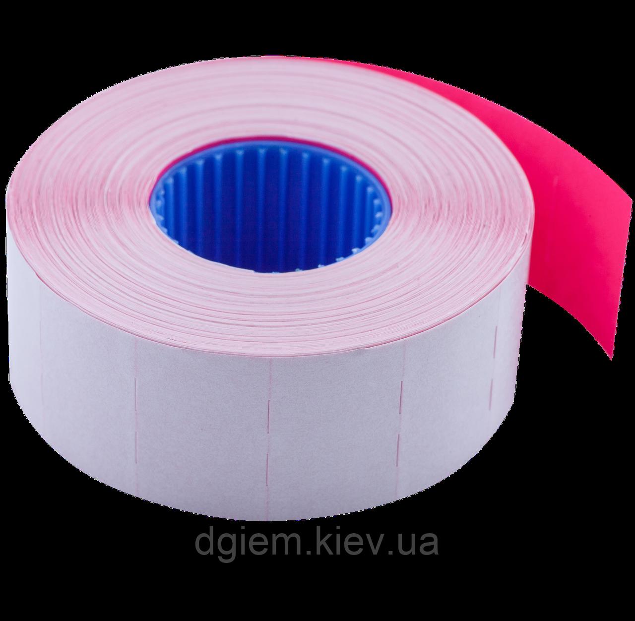Цінник 26*16мм (1000шт, 16м) прямокутний, внутрішня намотування асорті