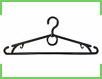 Вешалка плечики пластмассовые для одежды кольцо (черный) 39 см Украина