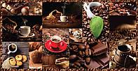 Панель листовая декоративная ПВХ плитка Кофе