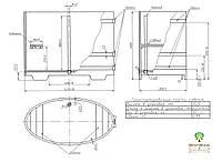 Купель для бани овальная BentWood 800x1420, фото 3
