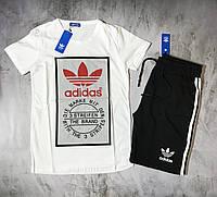 Мужской спортивный костюм (футболка и шорты) Adidas Evidence, фото 1