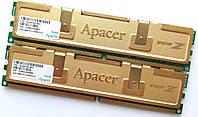 Пара игровой оперативной памяти Apacer DDR2 4Gb (2Gb+2Gb) 667MHz PC2 5300U 2R8 CL5 (78.AAG9O.9K4) Б/У, фото 1