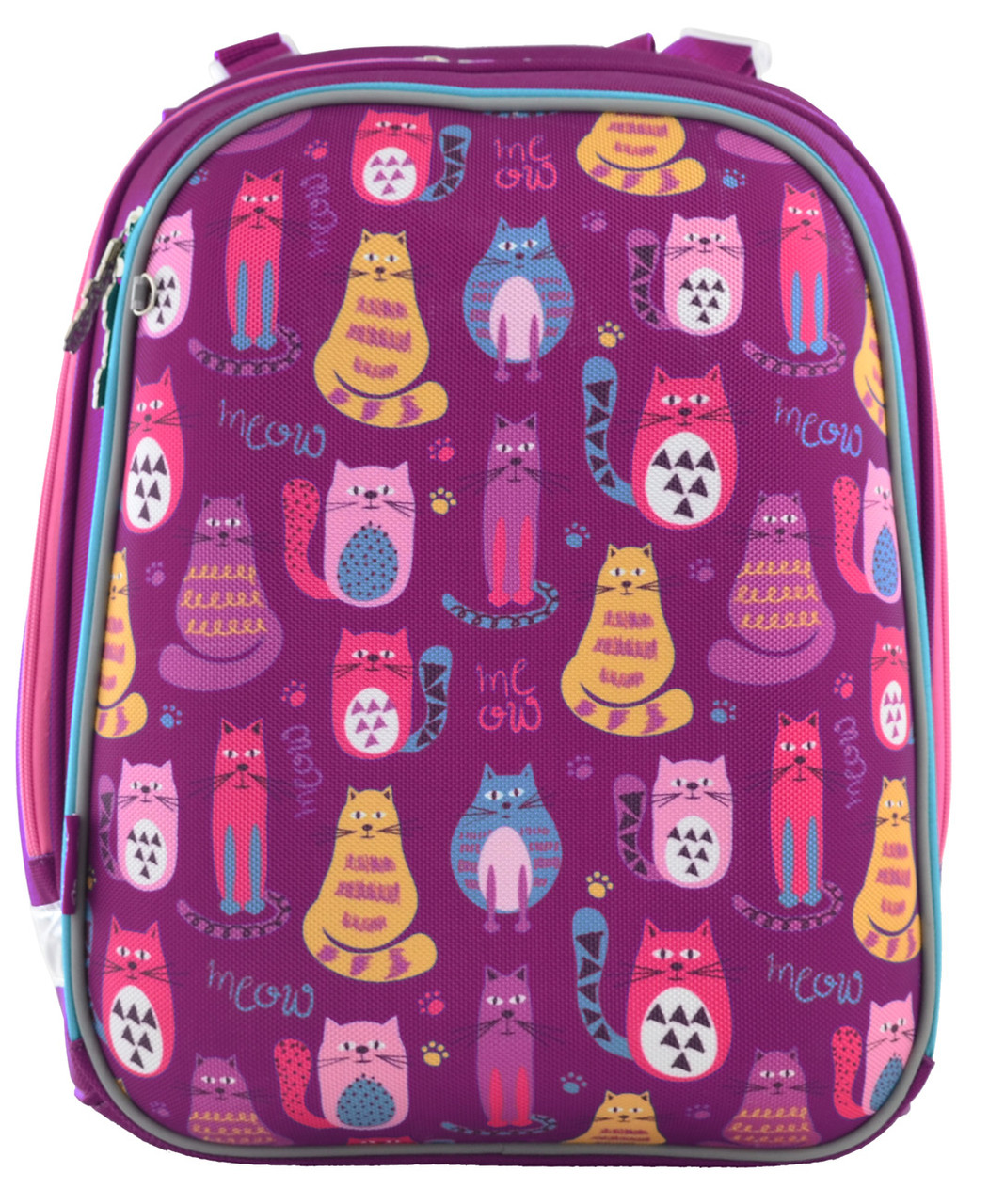 556024 Яркий каркасный рюкзак 1 Вересня H-12 Cute cats  29*38*15