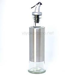 Стеклянная бутылка с дозатором для масла, уксуса , соуса (без надписи)